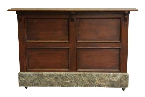 Bar with Faux Marble Foot Plate - Commercial Furniture