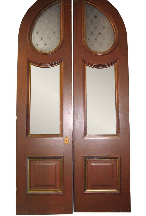 Large Pair of Arched Victorian Entrance Doors - Arched Doors
