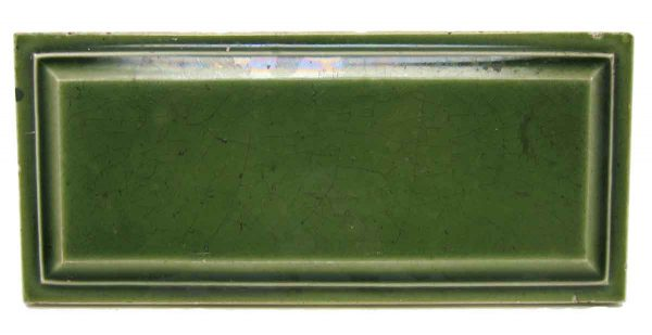 Green Beveled Edge Rectangular Tile Set - Wall Tiles