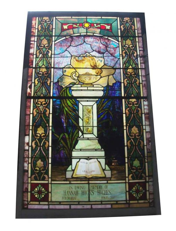 Burning Oil Lamp Stained Glass Window - Stained Glass