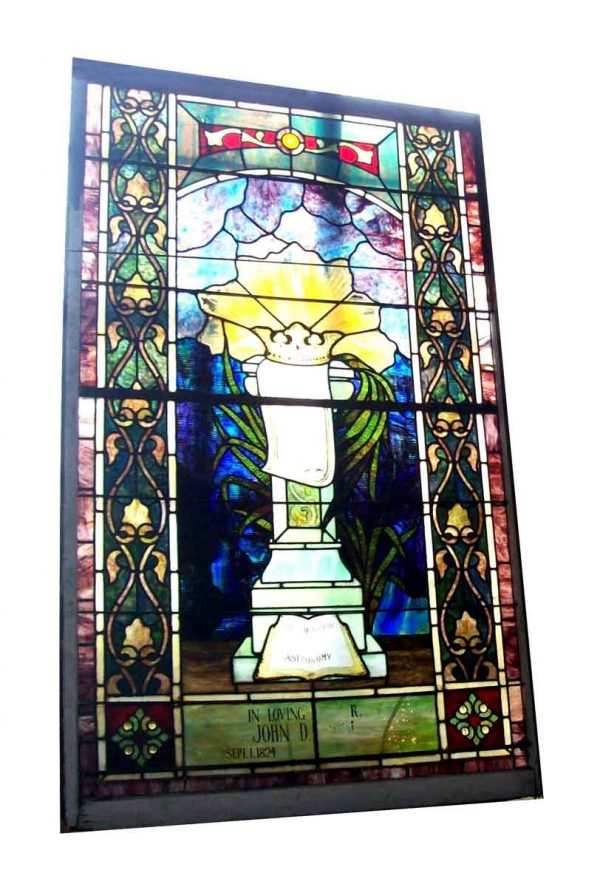 Regal Crown Stained Glass Window - Stained Glass