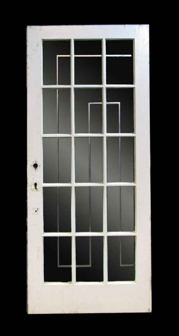 Oak French Door with Fifteen Glass Lights - French Doors