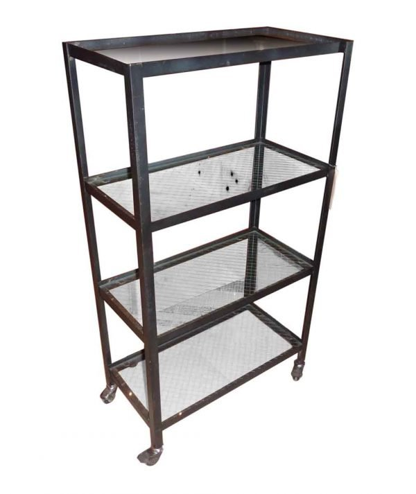 Rolling Cart with Four Glass Shelves