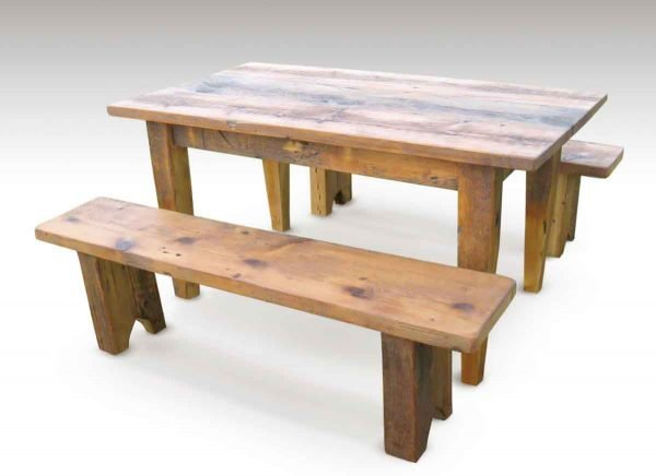 Down on the Farm Table with Benches