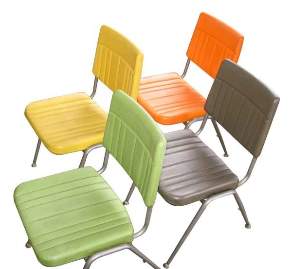 Colorful Mid Century Cafeteria Chair