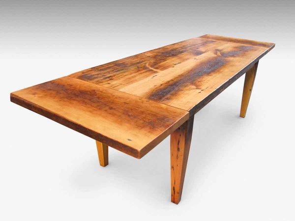 Farm Table with Tapered Legs & Extensions