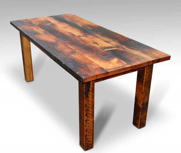 Rustic Square Leg Farm Table