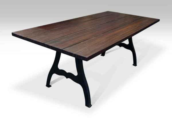 South Street Seaport Ipe Table with NYC Industrial Legs