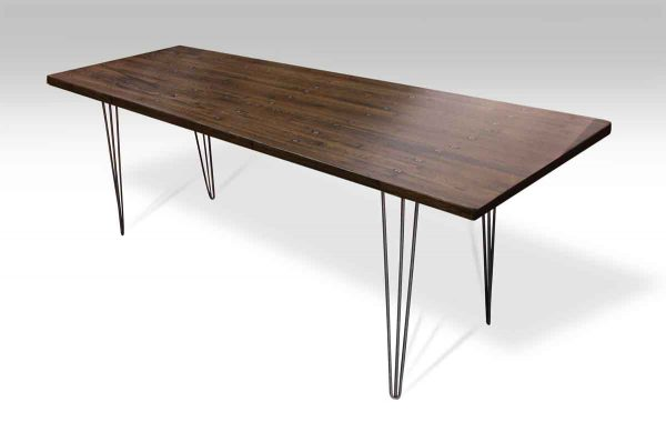 Industrial Flooring Top Table with Hair Pin Legs