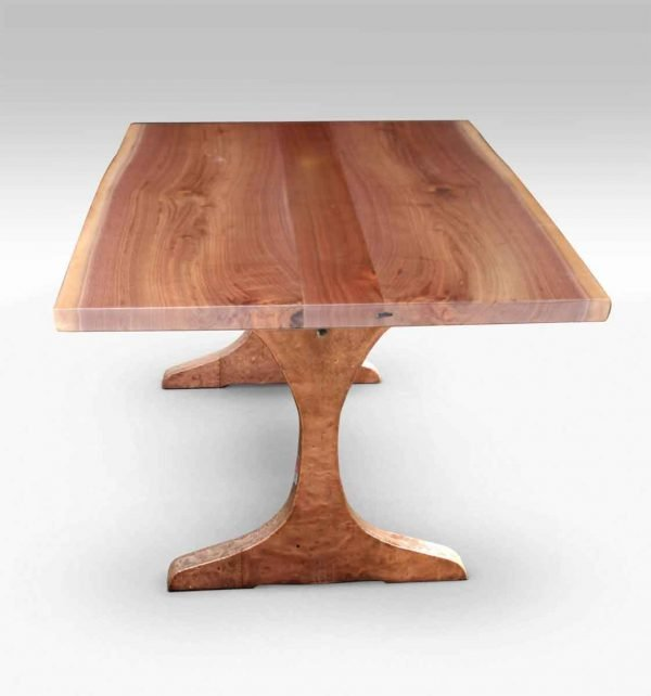 Walnut Top Table with Copper Clad Legs