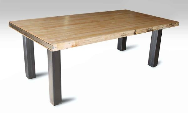 Bowling Alley Table Top with Square Metal Legs