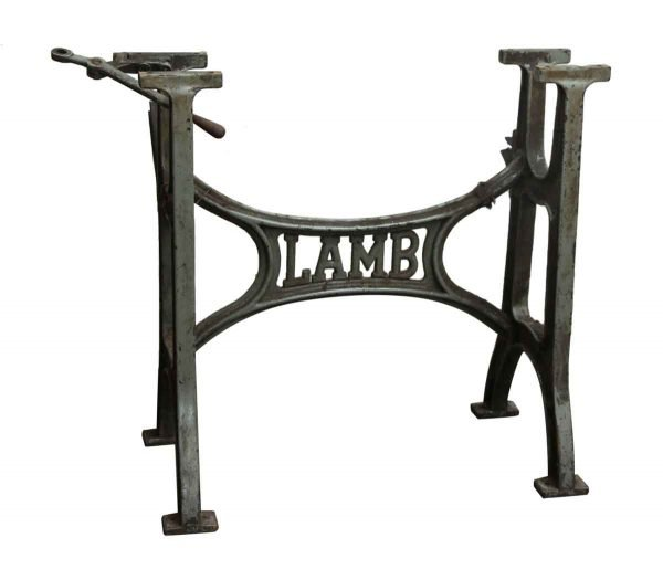 Genuine Lamb Counter Height Iron Industrial Base - Industrial