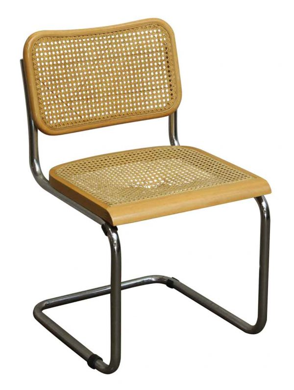 Vintage Cane Wood & Chrome Cesca Style Chair - Seating