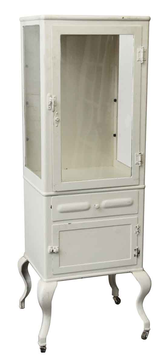 Vintage Medical Cabinet with Stylish Cabriolet Legs - Cabinets
