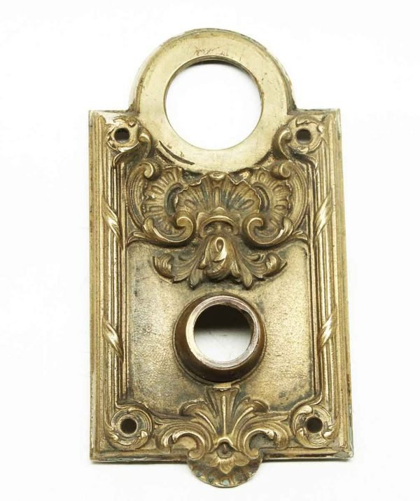Antique Rococo Bronze Yale Back Plate