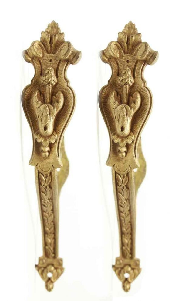 Pair of French Gilded Bronze Curtain Tie Backs