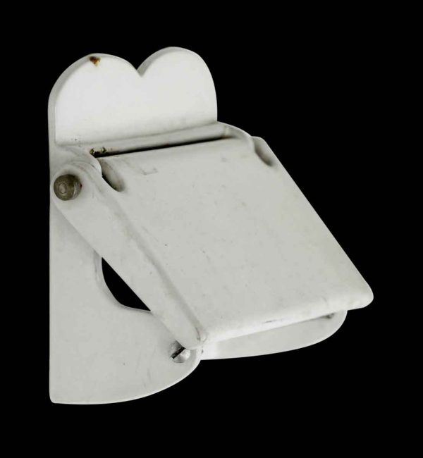 Vintage White Metal Toilet Paper Wall Holder - Bathroom