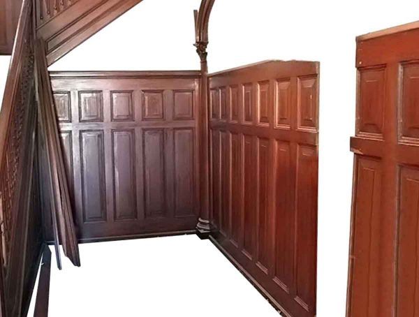 Salvaged Mahogany Wainscoting with Beaded Detail - Paneled Rooms & Wainscoting