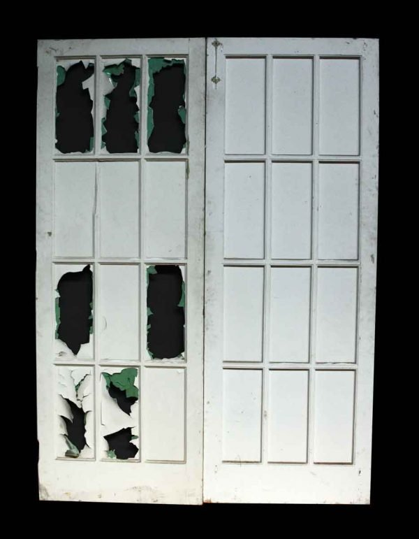 Salvaged Pair of French Doors with Glass Lites - French Doors