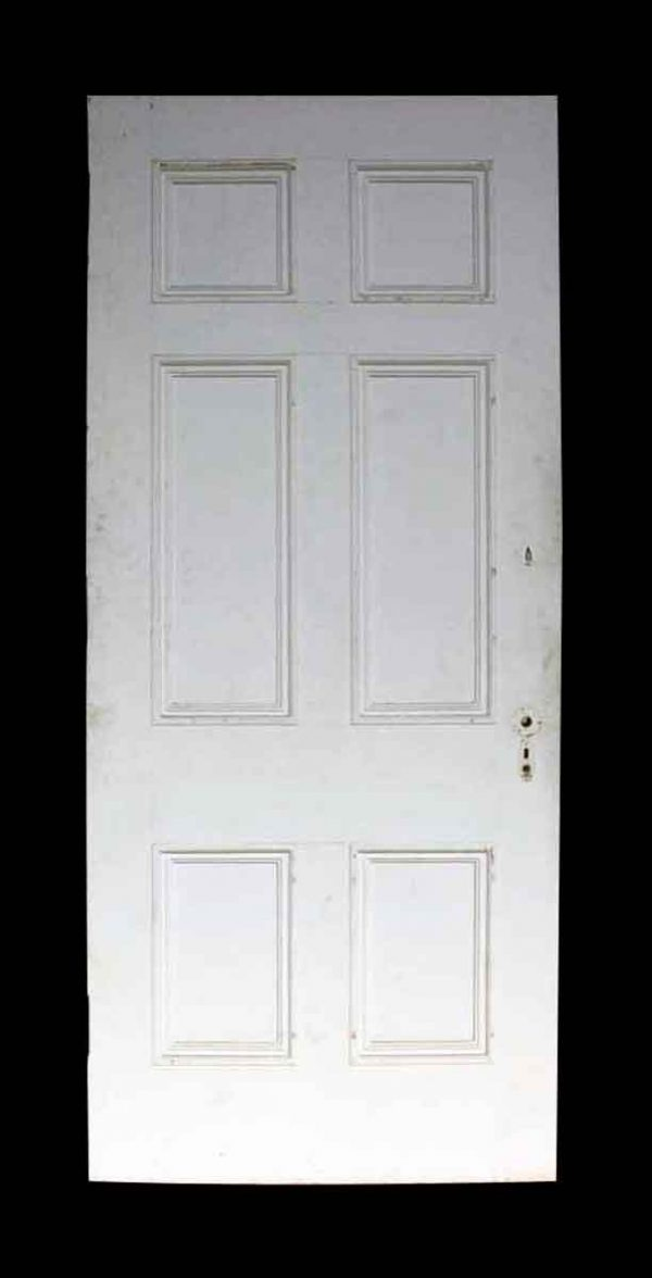Antique Six Panel White Wooden Door - Standard Doors