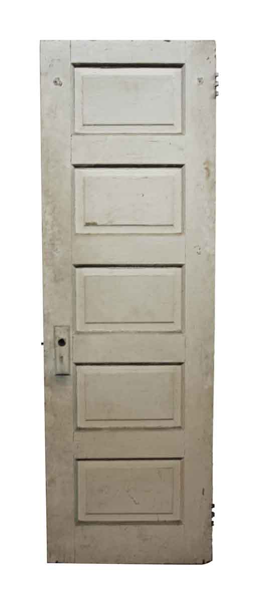 Old Antique Five Panel Wood Door - Standard Doors