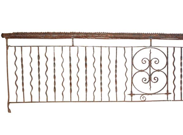 Wrought Iron Balcony with Fleur de Lis Design - Balconies & Window Guards