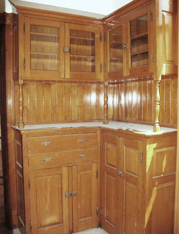 Salvaged Maple Kitchen Pantry Corner Cabinetry - Kitchen & Dining