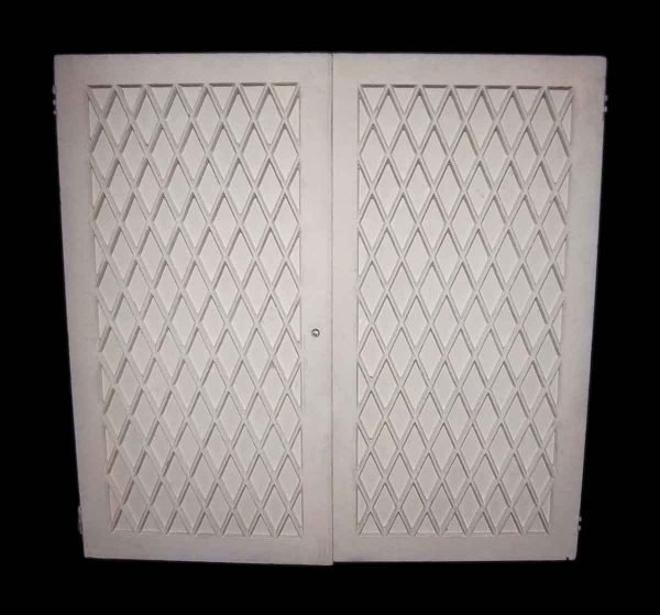 Reclaimed White Wood Cabinet French Doors - Cabinet Doors