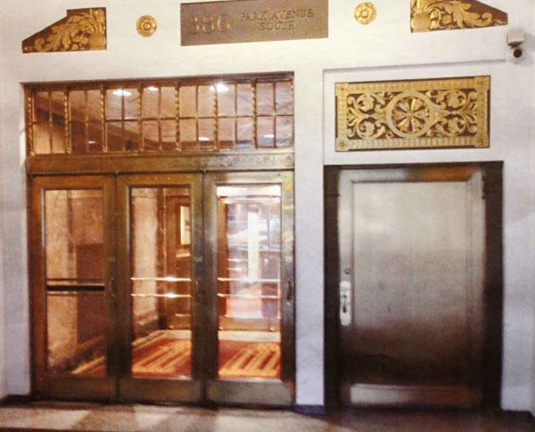 Salvaged Bronze Lobby Doors from Park Ave. Building - Commercial Doors