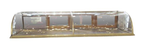 Antique Nickel & Glass Curved Front Display Case - Commercial Furniture