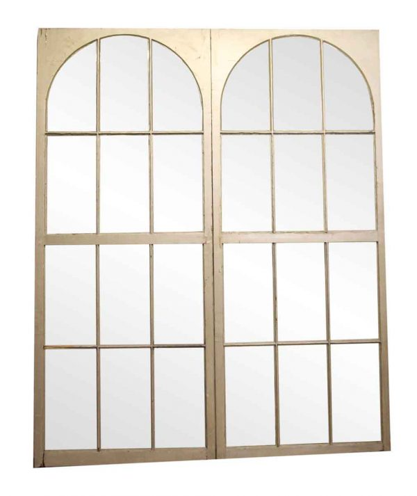 Arched Multi Pane White Arched Windows - Reclaimed Windows