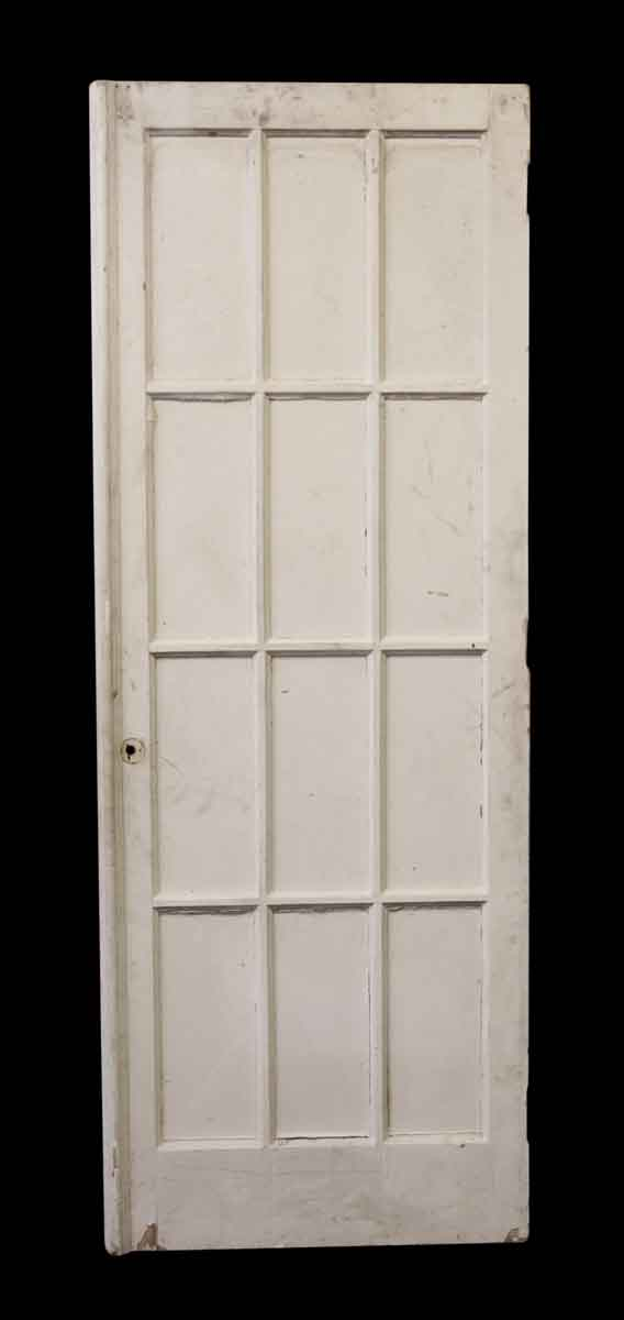Antique Salvaged 12 Glass Panel French Door - French Doors