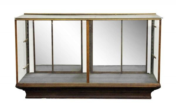 Floor Showcase with Mirrored Sliding Back Doors - Commercial Furniture