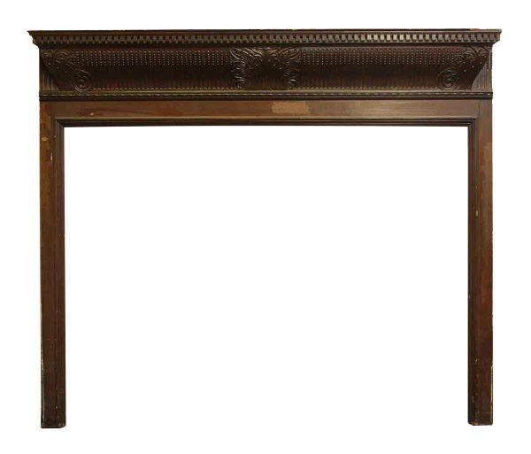1900s Wood Fireplace Wood Mantel with Dentil Detail - Mantels