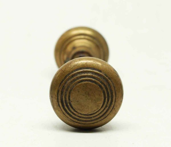 Antique Concentric Brass Knob Set - Door Knobs