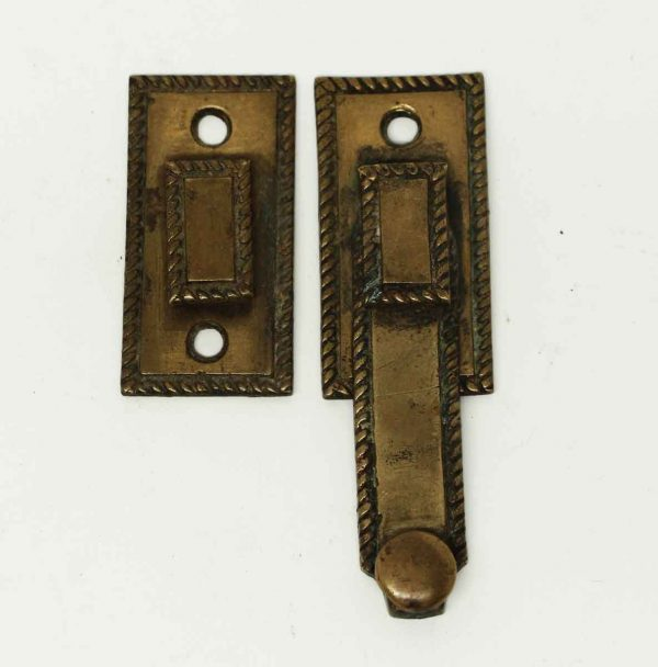 Antique Brass Patina Shutter Latch - Window Hardware