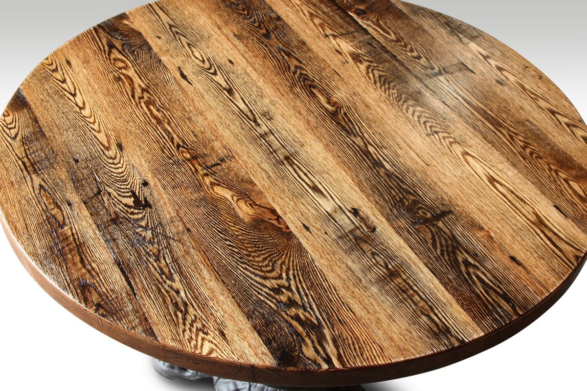 Round Oak Table Top