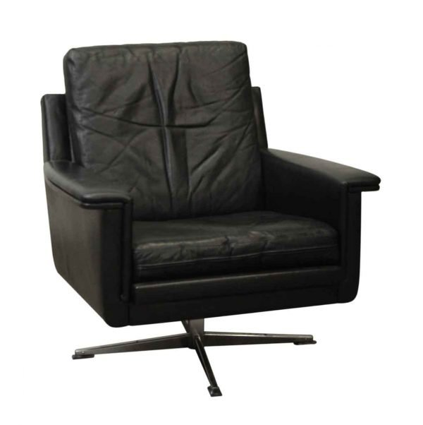 Imported Swiveling Black Modern Leather Chair - Office Furniture