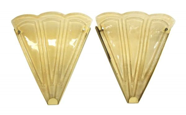 Pair of Yellow Murano Glass Sconces - Sconces & Wall Lighting