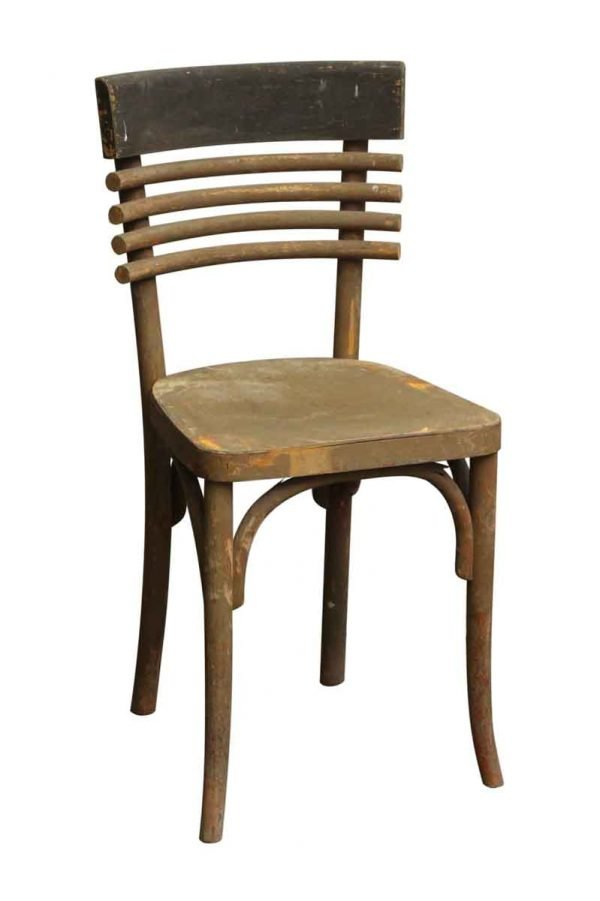 Rare Modern Bistro Wooden Chair - Seating