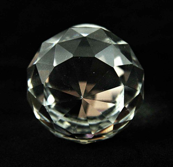 Faceted Spherical Glass Drawer Knob - Cabinet & Furniture Knobs