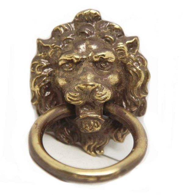 Antique Lion Head Ring Pull - Cabinet & Furniture Pulls