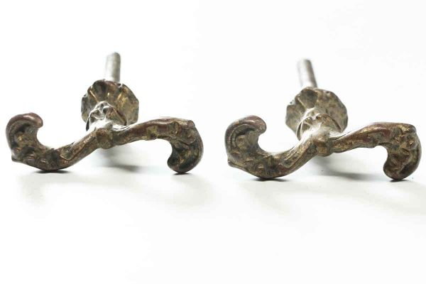 Pair of Ornate Shutter Hooks - Window Hardware