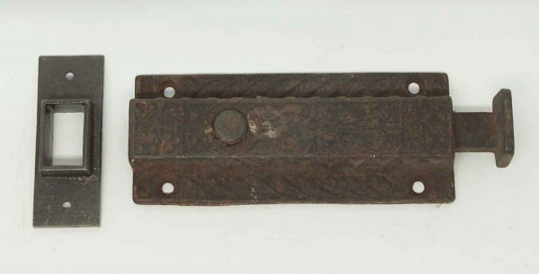 Rusty Victorian Floor Door Bolt - Door Locks