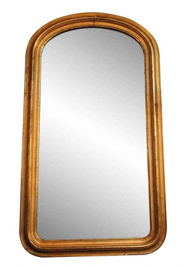 Vintage Gilded Rounded Wall Mirror - Antique Mirrors