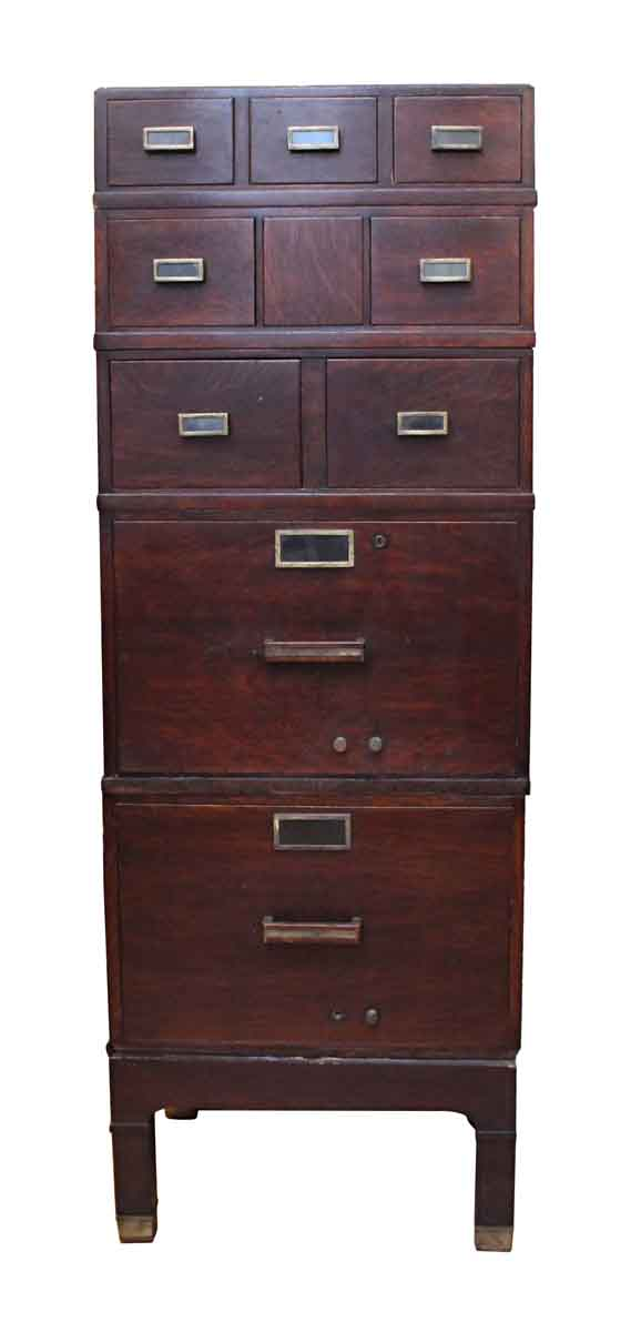 Art Deco File Wooden Cabinet - Cabinets