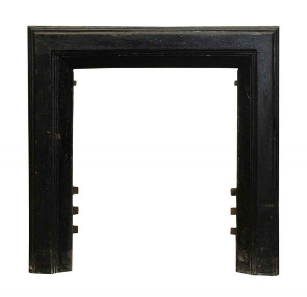 Modern Cast Iron Black Fireplace Insert - Screens & Covers