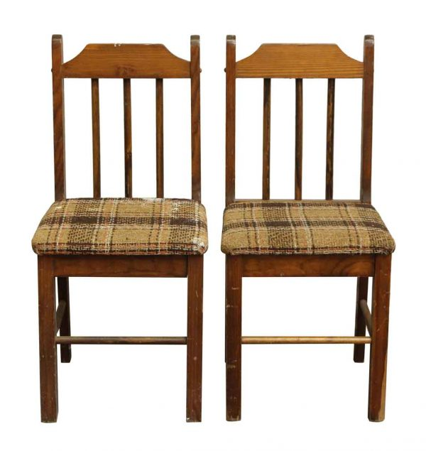 Pair of Simple Bannister Chairs - Seating