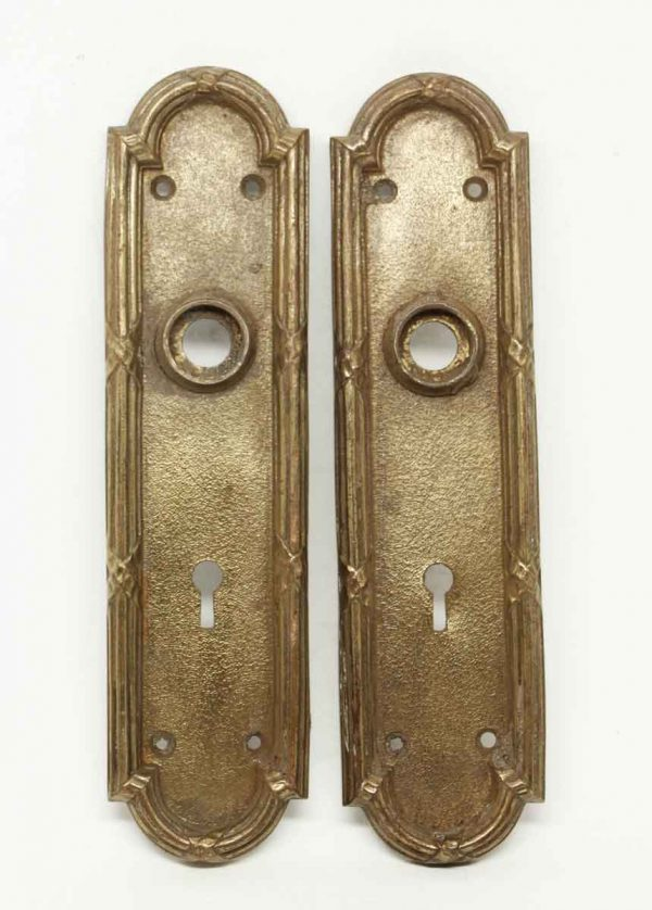 Pair of Classic Arch Bronze Back Plates - Back Plates