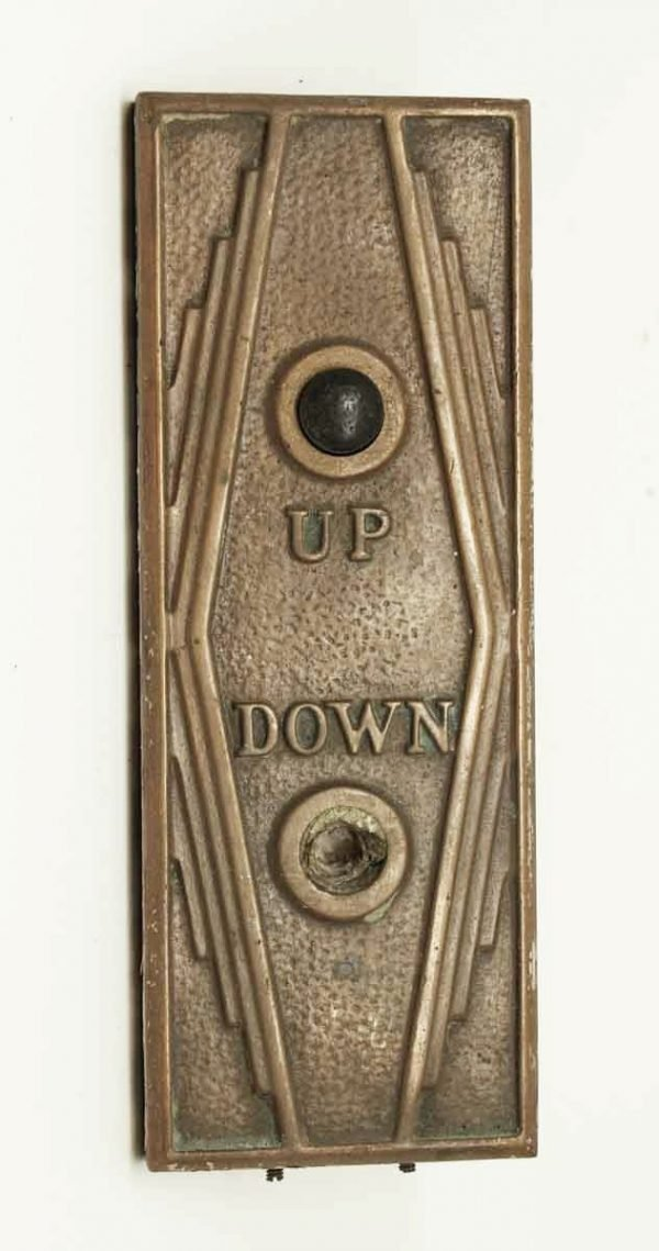 Art Deco Bronze Elevator Button Plate - Elevator Hardware